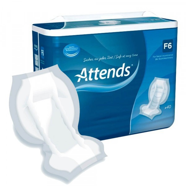 Attends F6 Faecal Pad - Pack of 40