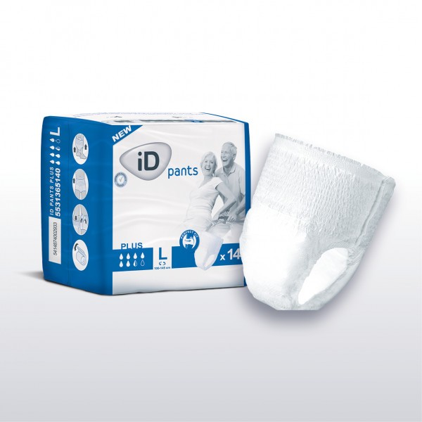 iD Pants Plus X Large (130-170cm/51-66in) 1700ml - Pack of 14