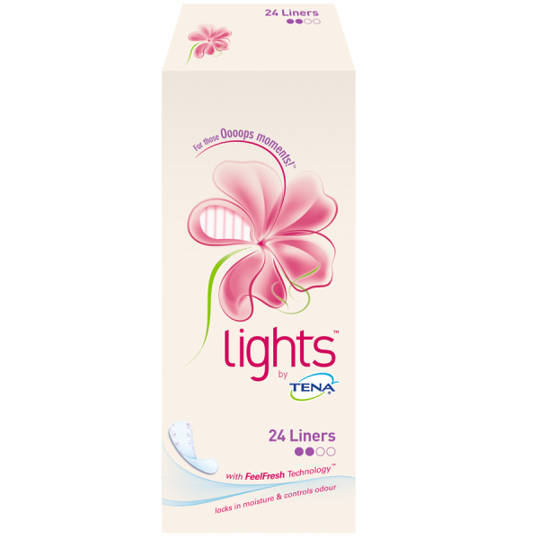 Lights by TENA Liners (90ml) - Pack of 24