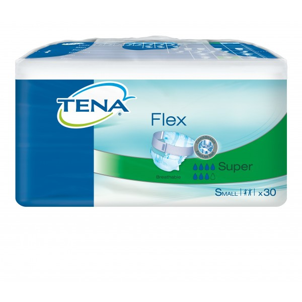 TENA Flex Super - Small (60-90cm/23-35in) 1910ml - Pack of 30