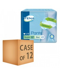 Case Saver 12 x TENA Pants Super Small (65-85cm/26-34in) 2010ml Pack of 12
