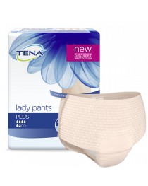 TENA Lady Pants Plus - Medium - Soft Peach - 1010ml - Pack of 9