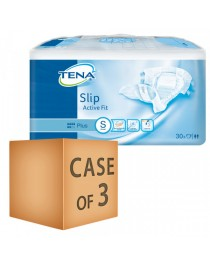 Case Saver 3 x TENA Slip Active Fit Plus (PE Backed) - Small (50cm-80cm/20-30in) - 1580ml - Pack of 30